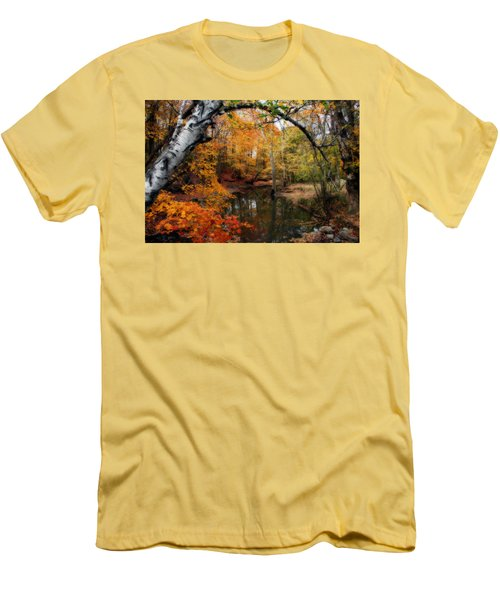 In Dreams Of Autumn Men's T-Shirt (Slim Fit) by Kay Novy