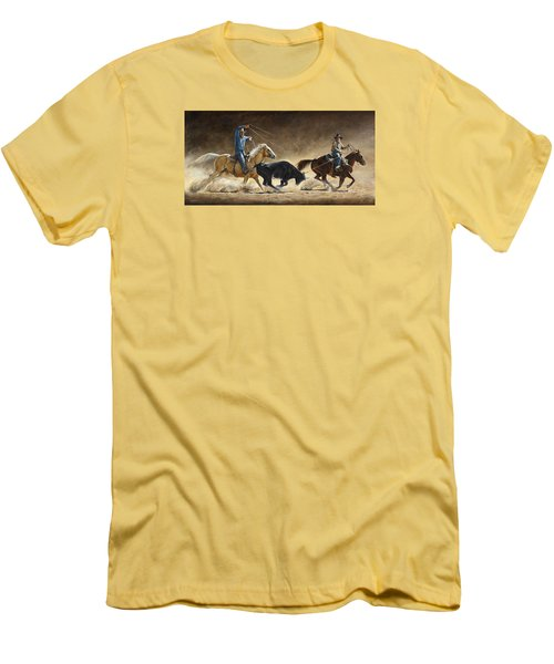 In The Money Men's T-Shirt (Slim Fit) by Kim Lockman