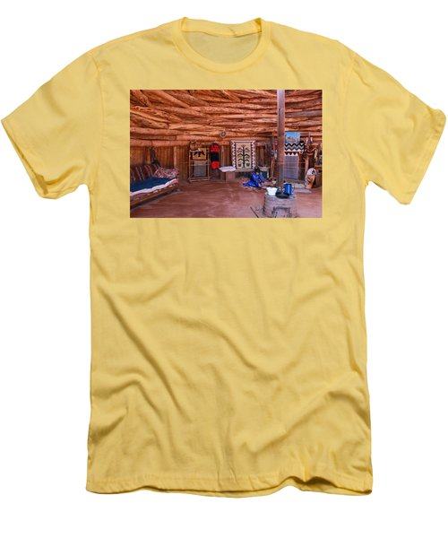 Inside A Navajo Home Men's T-Shirt (Slim Fit)
