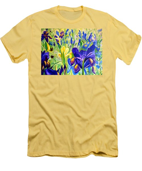 Iris Spring Men's T-Shirt (Slim Fit) by Julie Brugh Riffey