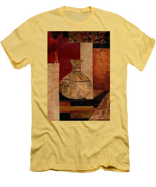 Italian Urn Collage Men's T-Shirt (Slim Fit) by Patricia Cleasby