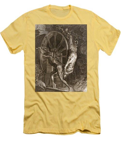 Ixion In Tartarus On The Wheel, 1731 Men's T-Shirt (Slim Fit) by Bernard Picart