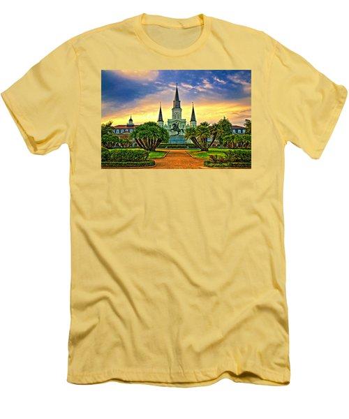 Jackson Square Evening - Paint Men's T-Shirt (Athletic Fit)