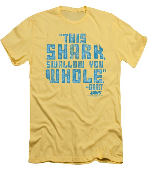 Jaws - Swallow You Whole Men's T-Shirt (Athletic Fit)