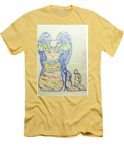 Jesus Guardian Angel Men's T-Shirt (Athletic Fit)