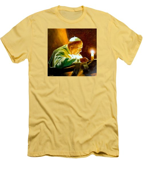 John Paul II Men's T-Shirt (Slim Fit) by Henryk Gorecki