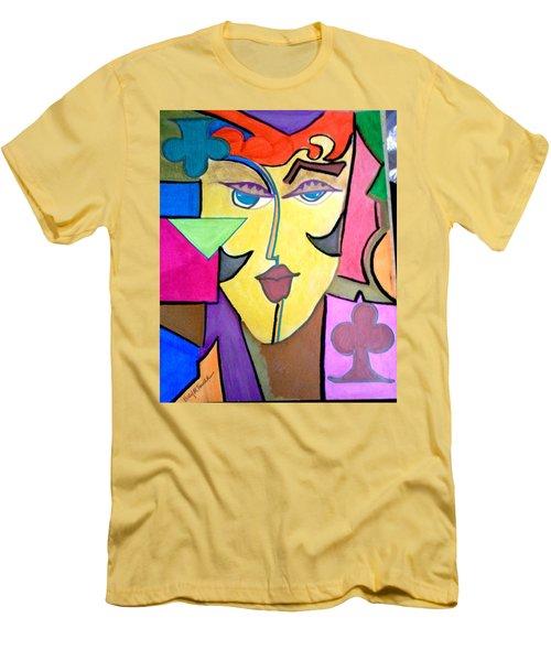 Joker Art Men's T-Shirt (Slim Fit) by Kelly Turner