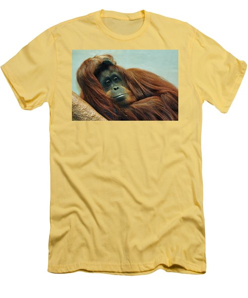 Men's T-Shirt (Slim Fit) featuring the photograph Just Hanging Around by Jean Goodwin Brooks