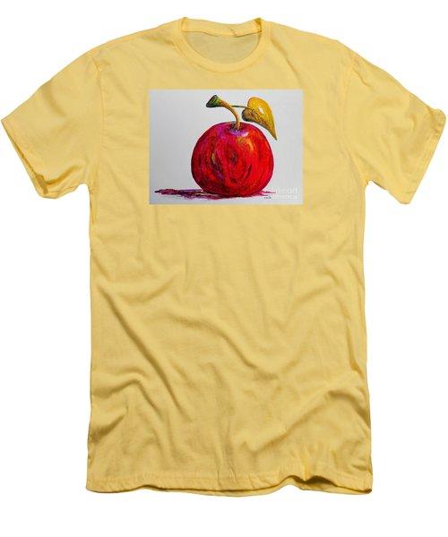 Kaleidoscope Apple -- Or -- Apple For The Teacher  Men's T-Shirt (Slim Fit) by Eloise Schneider