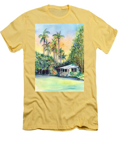 Kauai West Side Cottage Men's T-Shirt (Slim Fit) by Marionette Taboniar