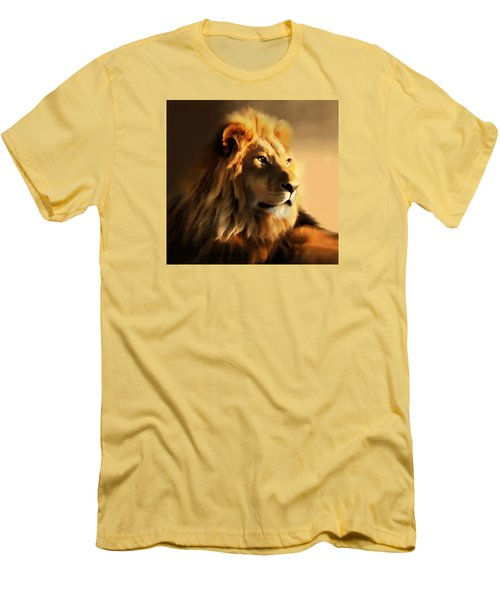 King Lion Of Africa Men's T-Shirt (Athletic Fit)