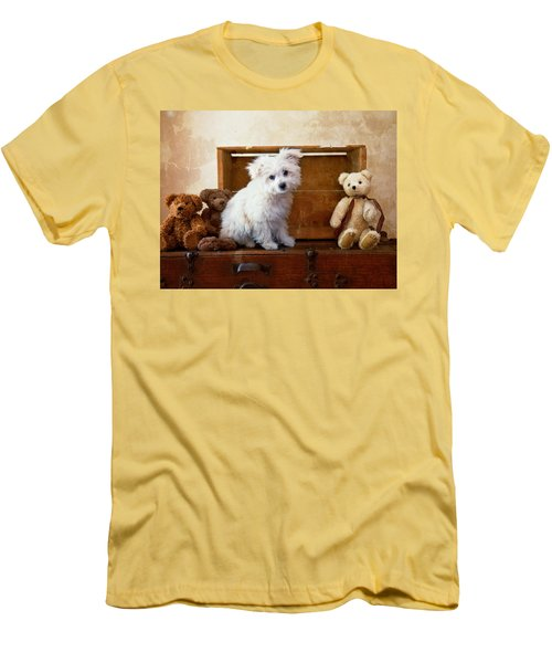 Men's T-Shirt (Slim Fit) featuring the photograph Kip And Friends by Toni Hopper