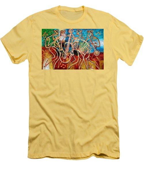 Klezmer Music Band Men's T-Shirt (Slim Fit) by Leon Zernitsky