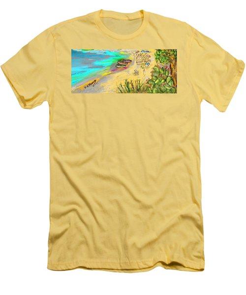 La Spiaggia Men's T-Shirt (Slim Fit) by Loredana Messina