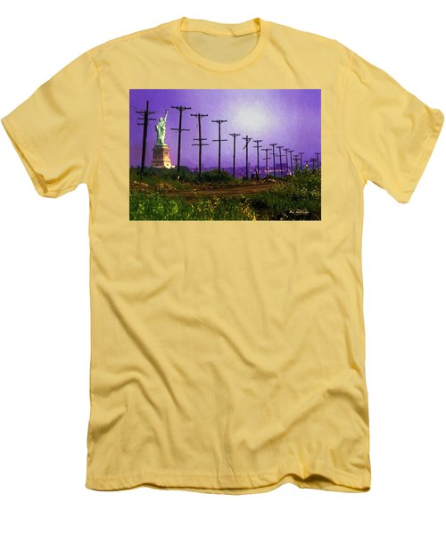 Lady Liberty Lost Men's T-Shirt (Slim Fit) by RC deWinter