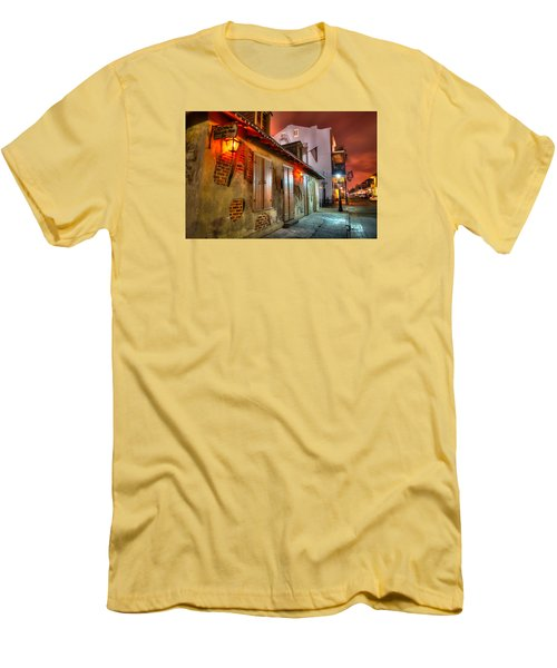 Men's T-Shirt (Slim Fit) featuring the photograph Lafitte's Blacksmith Shop by Tim Stanley