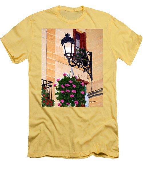 Laguardia Street Lamp  Men's T-Shirt (Slim Fit) by Mike Robles