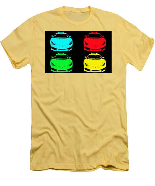 Men's T-Shirt (Slim Fit) featuring the photograph Lambo Pop Art by J Anthony