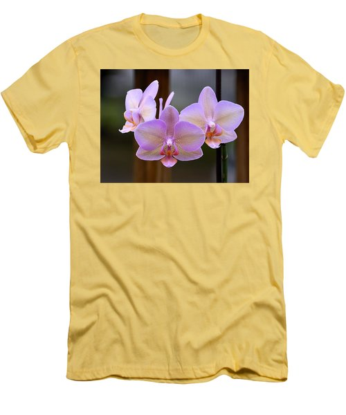 Lavender Orchid Men's T-Shirt (Slim Fit) by Kathy Eickenberg