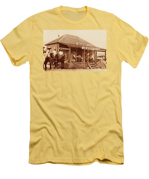 Law West Of The Pecos Men's T-Shirt (Slim Fit) by Pg Reproductions