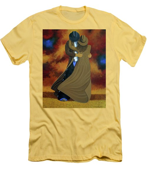 Lean On Me Men's T-Shirt (Slim Fit) by Lance Headlee