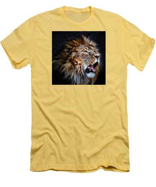 Men's T-Shirt (Slim Fit) featuring the photograph LEO by Elaine Malott