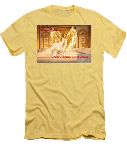 Let's Celebrate Lord Jesus4 Men's T-Shirt (Athletic Fit)