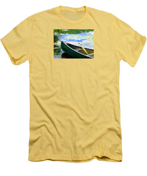 Let's Go Out In The Old Town Men's T-Shirt (Slim Fit) by Angela Davies