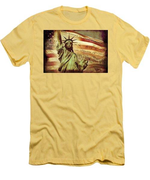 Declaration Of Independence Men's T-Shirt (Slim Fit) by Az Jackson
