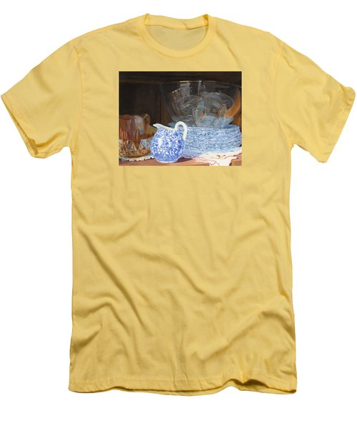 Men's T-Shirt (Slim Fit) featuring the painting Life Is A Carnival Glass by Lynne Reichhart
