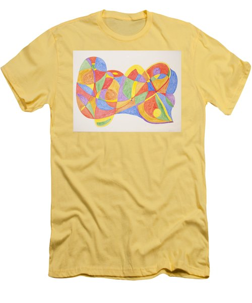 Men's T-Shirt (Slim Fit) featuring the painting Graffiti Life  by Stormm Bradshaw