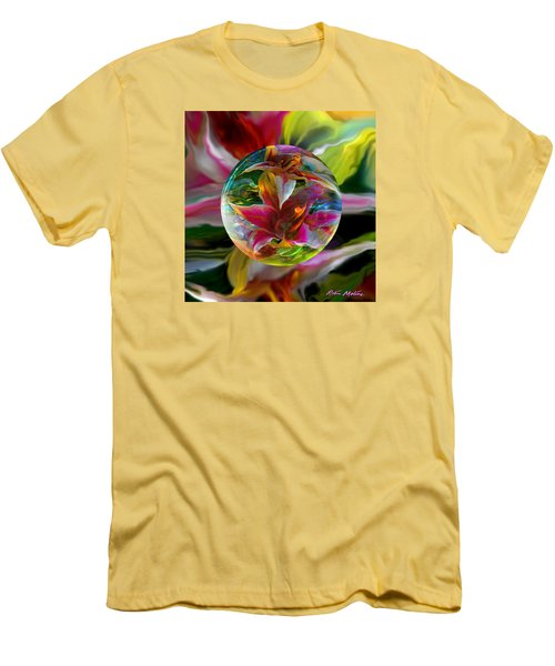Men's T-Shirt (Slim Fit) featuring the painting Lillium Bulbiferum by Robin Moline
