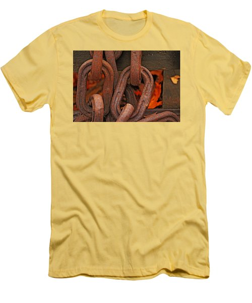 Men's T-Shirt (Slim Fit) featuring the photograph Linked by Rowana Ray