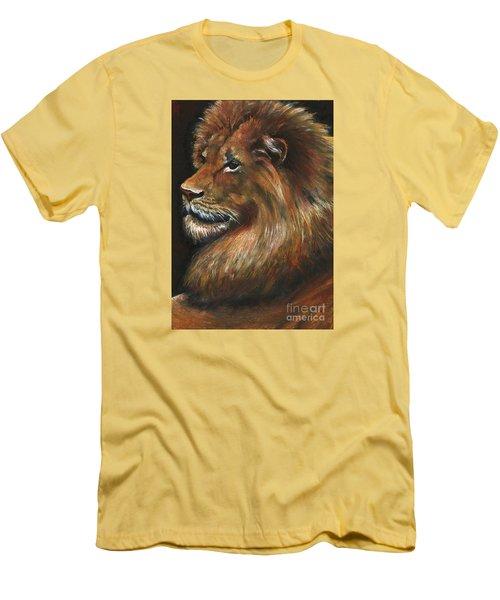 Lion Portrait Men's T-Shirt (Slim Fit) by Alga Washington