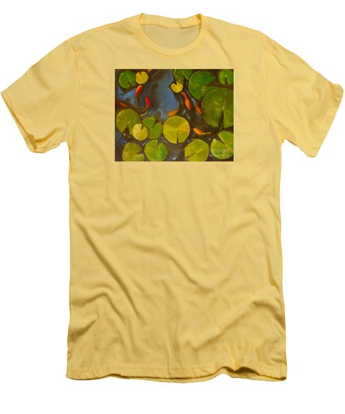 Little Fish Koi Goldfish Pond Men's T-Shirt (Athletic Fit)
