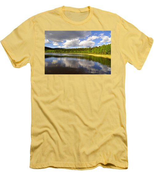 Men's T-Shirt (Slim Fit) featuring the photograph Little Lost Lake by Cathy Mahnke
