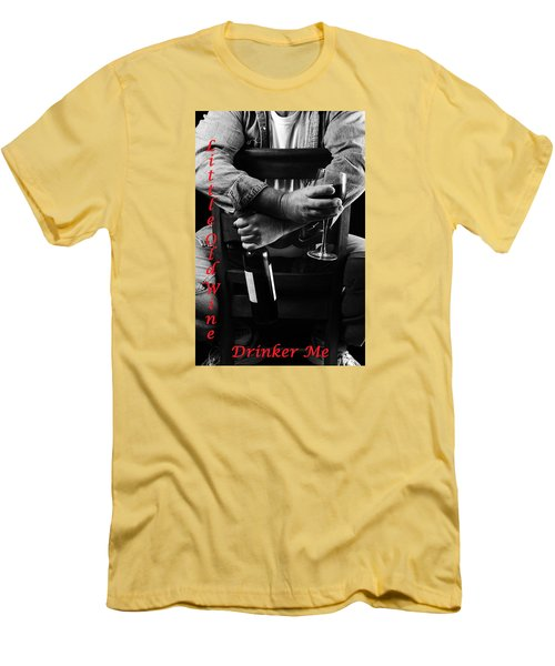 Men's T-Shirt (Slim Fit) featuring the photograph Little Old Wine Drinker Me by Duncan Selby
