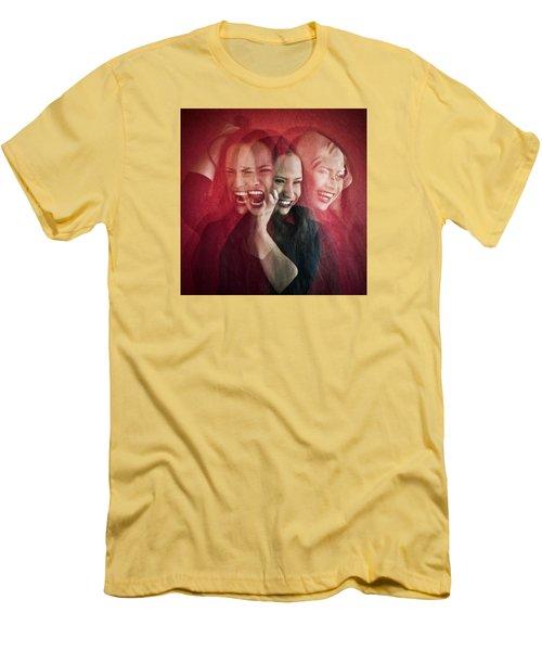 Livin On The Edge Men's T-Shirt (Slim Fit) by Scott Meyer