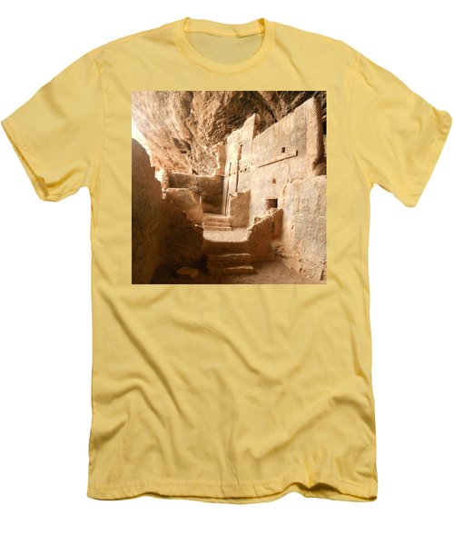 Men's T-Shirt (Slim Fit) featuring the photograph Living In The Rocks by Kerri Mortenson