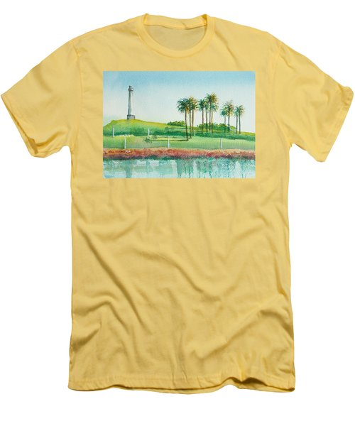 Long Beach Lighthouse Men's T-Shirt (Athletic Fit)