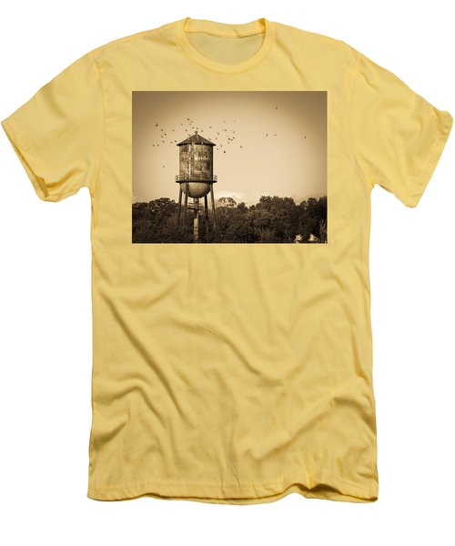 Loudon Water Tower Men's T-Shirt (Slim Fit) by Melinda Fawver
