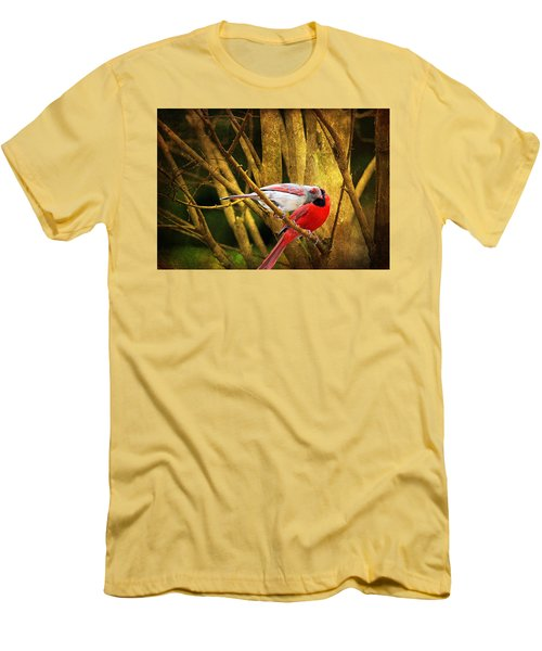 Men's T-Shirt (Slim Fit) featuring the photograph Love In A Dark World by Trina  Ansel