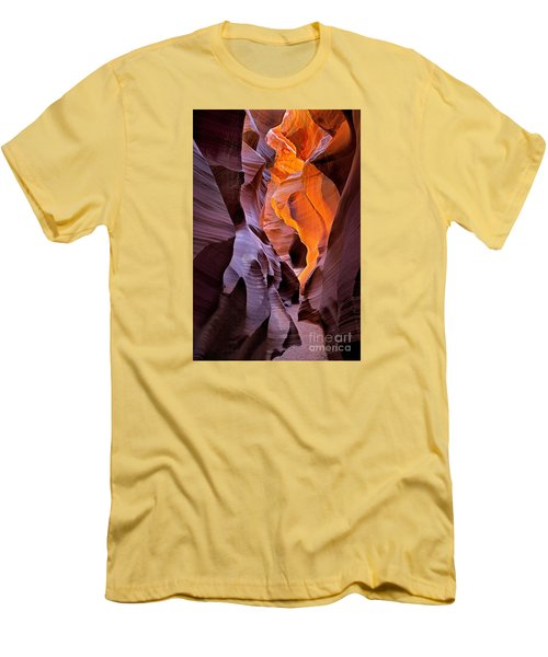 Men's T-Shirt (Slim Fit) featuring the photograph Lower Antelope Glow by Jerry Fornarotto