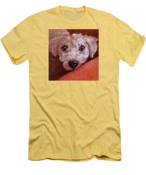 Men's T-Shirt (Slim Fit) featuring the painting Lucky by Pattie Wall