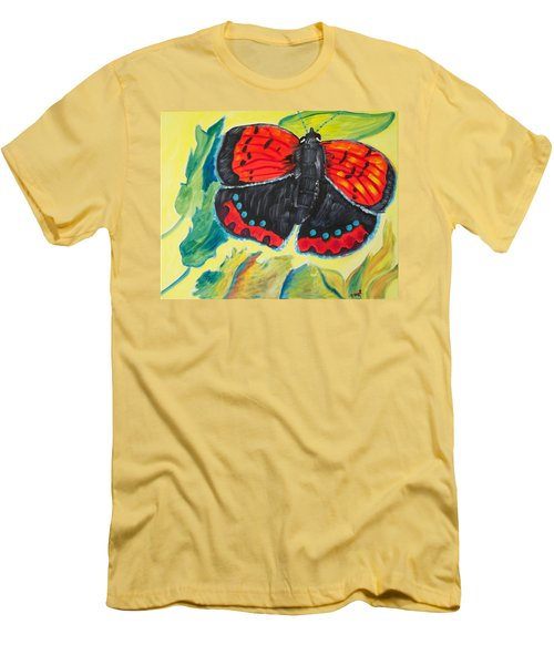 Men's T-Shirt (Slim Fit) featuring the painting Luminous by Meryl Goudey