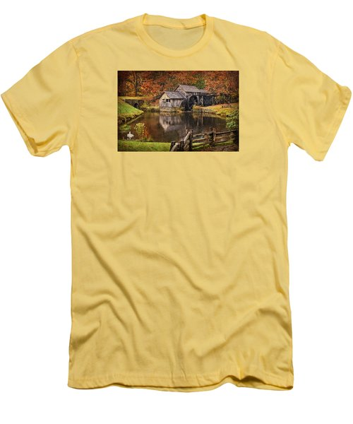 Mabry Mill Men's T-Shirt (Slim Fit) by Priscilla Burgers