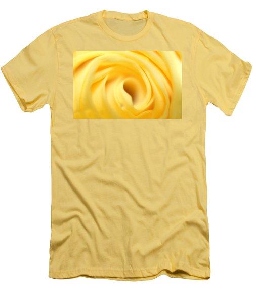 Macro Yellow Rose Men's T-Shirt (Athletic Fit)