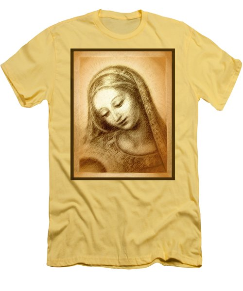 Madonna With The Dove Face Men's T-Shirt (Slim Fit) by Ananda Vdovic