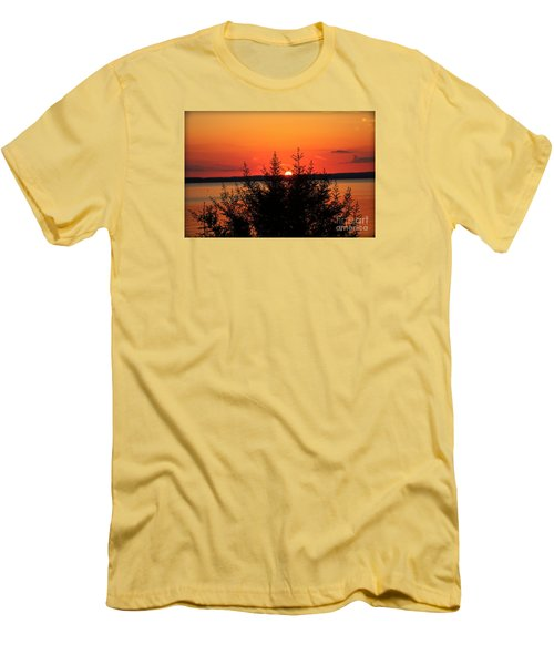 Men's T-Shirt (Slim Fit) featuring the photograph Magic At Sunset by Ella Kaye Dickey