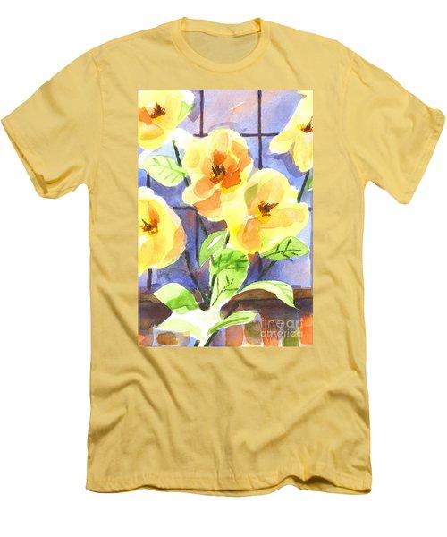 Men's T-Shirt (Slim Fit) featuring the painting Magnolias by Kip DeVore